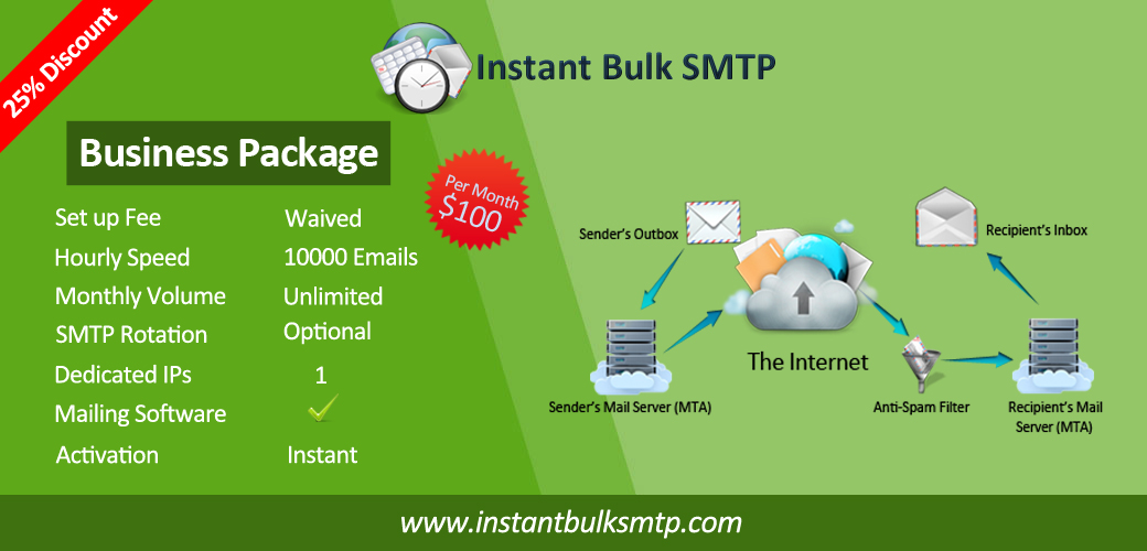Instant Bulk smtp second image