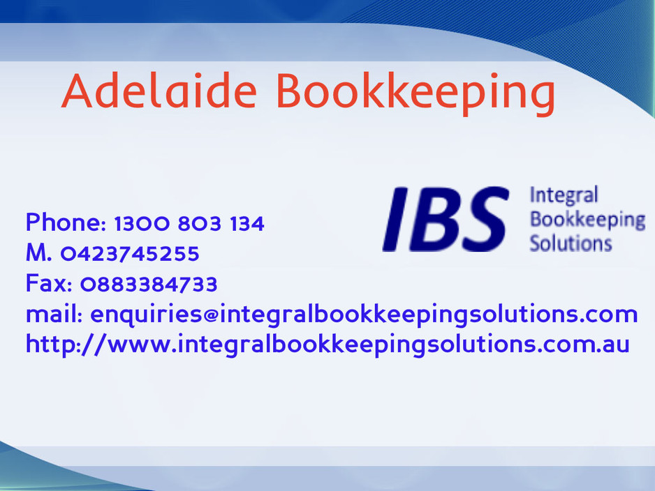 Integral Bookkeeping Solutions first image